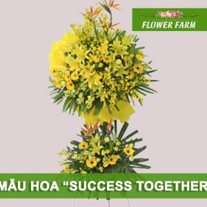 hoa chúc mừng success together